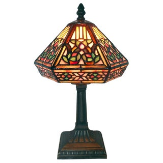 Tiffany Style Floral Mosaic Table Lamp