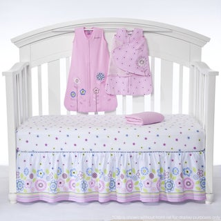 Halo SleepSack 'Caroline Flower' 5-piece Bumper-free Crib Bedding Set