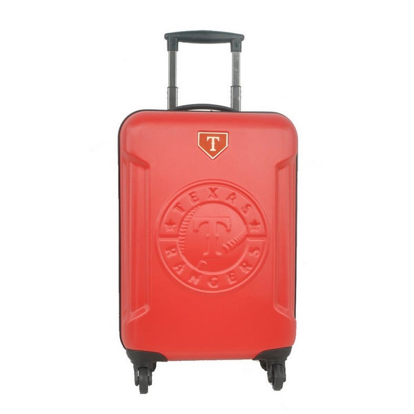 Texas Rangers MLB 20-inch Hardside Spinner Carry on Luggage Upright