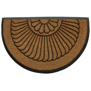 Tuff Brush Coir Rubber Door Mat Shell (24 x 39)