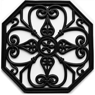 Rubber Octagon Trivets Stepping Stones (Set of 3)