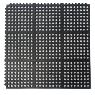 Natural Rubber Mat Interlocking Flooring (36 x 36)
