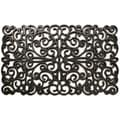 Prestige Natural Rubber Silver Finish Door Mat (18 x 30)