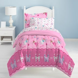 Dream Factory Magical Princess Twin 5-piece Bed in a Bag with Sheets