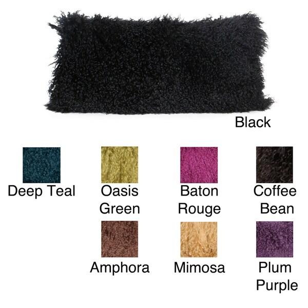 Thro Mongolian Fur Decorative Pillow