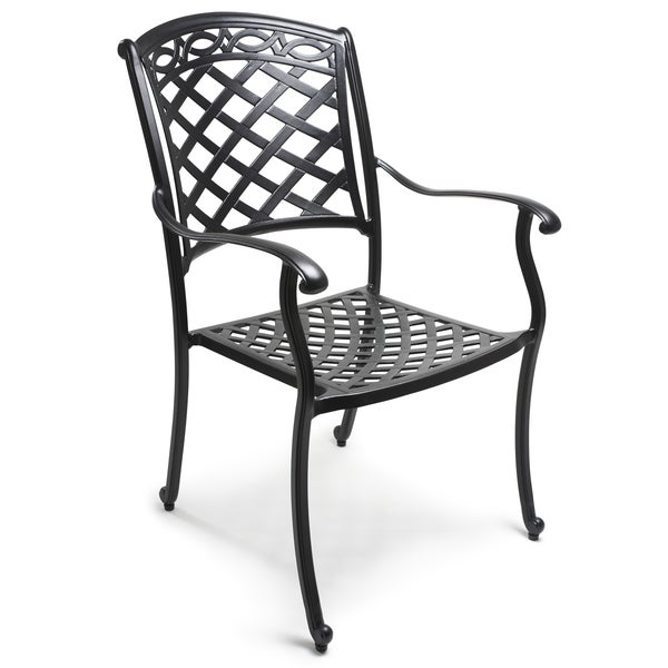 Set of 4 or 6 ComfortCare Cast Aluminum Outdoor Dining Chairs