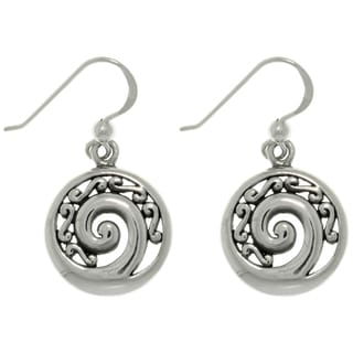 Carolina Glamour Collection Sterling Silver Filigree Spiral Earrings
