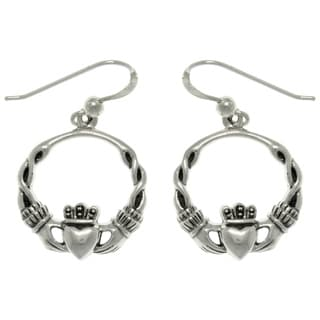 Carolina Glamour Collection Sterling Silver Celtic Claddagh Earrings