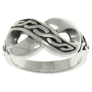 CGC Sterling Silver Celtic Infinity Ring