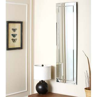 Loft Silver Modern Rectangle Wall Mirror by Abbyson