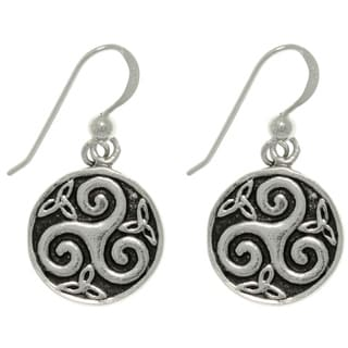 Carolina Glamour Collection Sterling Silver Celtic Trinity Spiral Earrings