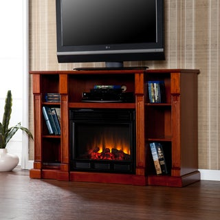 Bernardo Mahogany Electric Media Fireplace