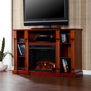 Upton Home Bernardo 52-inch Mahogany Electric Media Fireplace