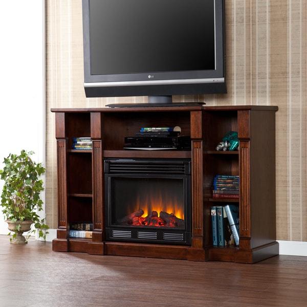 Upton Home Bernardo Espresso Electric Media Fireplace