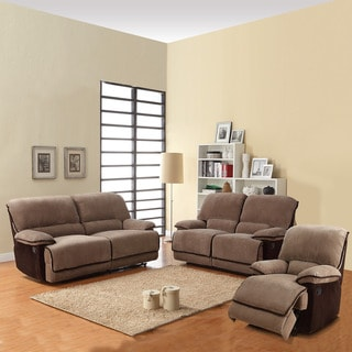 Selena Brown 3-piece Corduroy Sofa Set