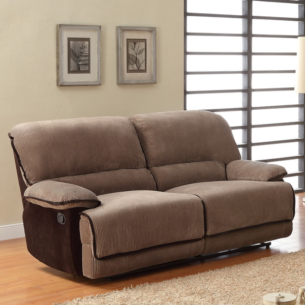 TRIBECCA HOME Selena Brown Corduroy Sofa