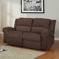 Polmont Dark Brown Chenille Recliner Loveseat