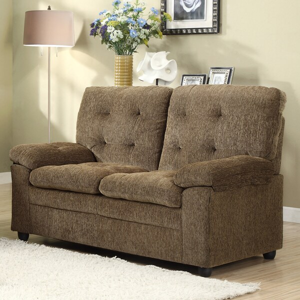 Sequoia Golden Brown Chenille Loveseat