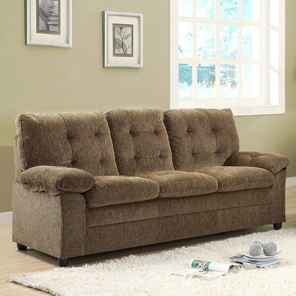 Sequoia Golden Brown Chenille Sofa