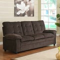 Sequoia Chocolate Chenille Tufted Transitional Sofa