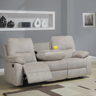 Corbridge Light Beige Chenille Double Recliner Sofa