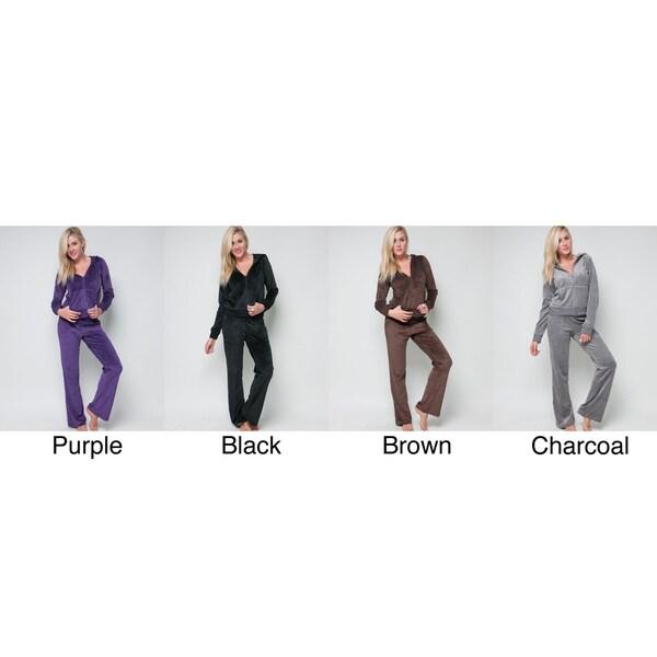 Stanzino Women's 2-piece Velour Track Suit