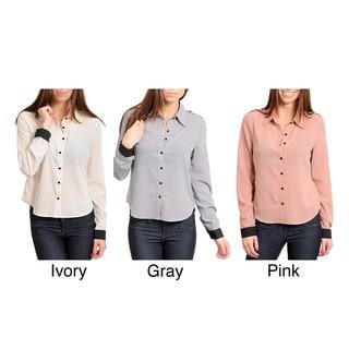 Stanzino Women's Contrast Cuff Button-up Shirt