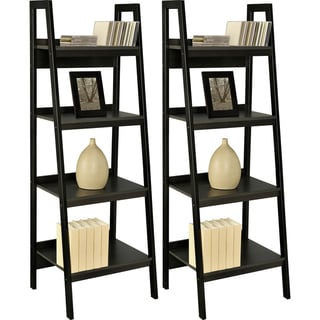 Altra Black Ladder Frame Bookcases (Set of 2)