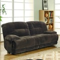 TRIBECCA HOME Felicity Chocolate Champion Microfiber Reclining Sofa