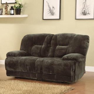 Felicity Dark Brown Microfiber Reclining Loveseat