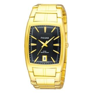 Pulsar Men's Goldtone Stainless Steel Rectangular Watch