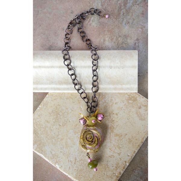 Vintage Floral Necklace