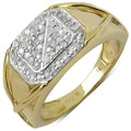 Malaika 14k Yellow Gold over Sterling Silver Diamond Ring