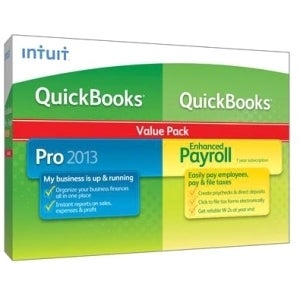 Intuit QuickBooks 2013 Pro With Enhanced Payroll - Complete Product