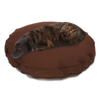 Sweet Dreams Brown Indoor/ Outdoor Round Corded Sunbrella Fabric Pet Bed