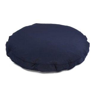 Sweet Dreams Navy Indoor/ Outdoor Round Corded Sunbrella Fabric Pet Bed