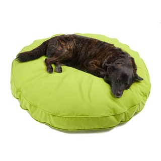 Sweet Dreams Lime Indoor/ Outdoor Round Corded Sunbrella Fabric Pet Bed