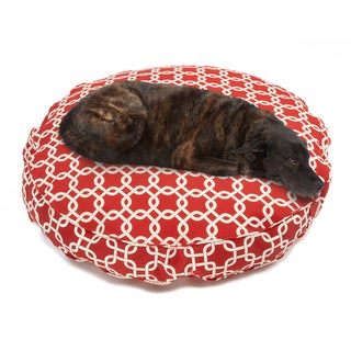 Sweet Dreams Red Indoor/ Outdoor Round Corded Pet Bed