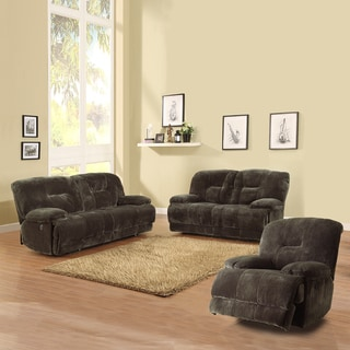 Felicity 3-piece Chocolate Champion Microfiber Sofa Set