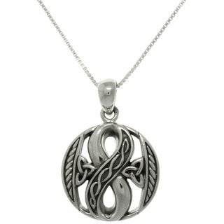 Carolina Glamour Collection Sterling Silver Celtic Infinity Necklace