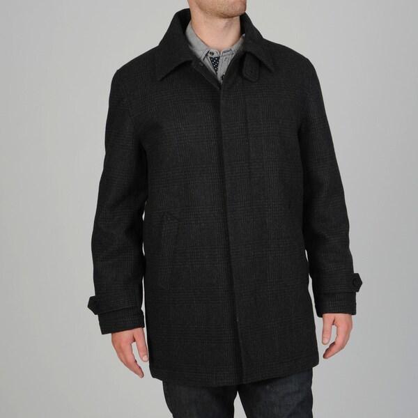 Geoffrey Beene Men's Gene Wool Blend Carcoat