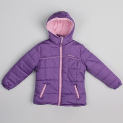 Pink Platinum Girl's Hooded Purple Jacket