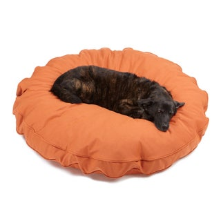 Sweet Dreams Rust Indoor/ Outdoor Round Corded Sunbrella Fabric Pet Bed