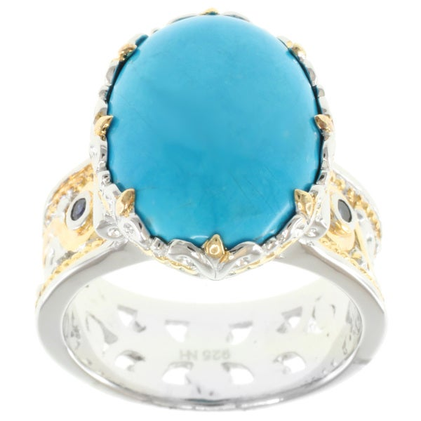 Michael Valitutti Two-Tone Howlite Ring