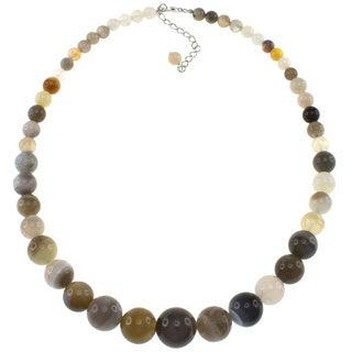 Pearlz Ocean Botswana Agate Journey Necklace