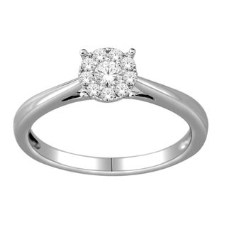De Couer 10k White Gold 1/4ct TDW Diamond Ring (H-I, I2)