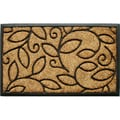 Tuff Brush Coir & Rubber Vine Leaves Door Mat (1'5 x 2'5)
