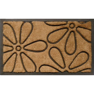 Tuff Brush Coir & Rubber Flowers Door Mat (1'6 x 2'6)