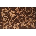 Natural Coir and Rope Brown Door Mat (1&#39;6 x 2&#39;6)