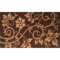 Natural Coir and Rope Brown Door Mat (1'6 x 2'6)